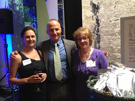 Vivianna Balbusti of Saffraon House, with Steve & Nancy Sorensen.
